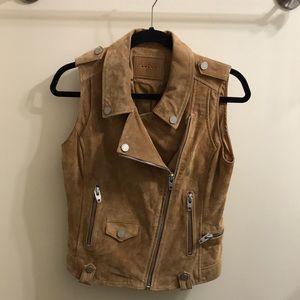 BLANK NYC  Suede Moto Vest